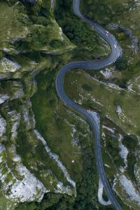 Winding Road from Above