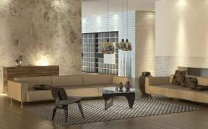 Wohnkonzept mit verschiedenen Lichtquellen