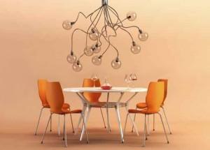 Lichtspot durch Design-Leuchte