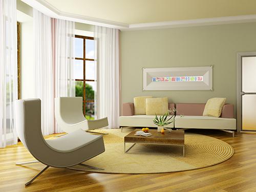 Gute Lichtverhältnisse und helle Wandfarben