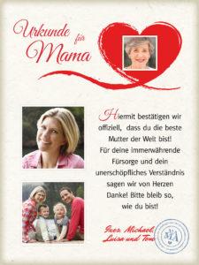 Mama Urkunde 3 900