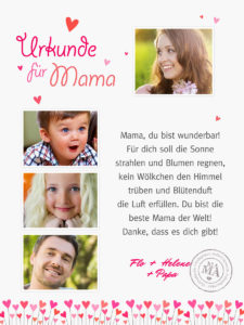 Mama Urkunde 4 900