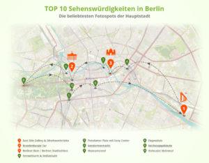 Top10 Sehenswürdigkeiten in Berlin