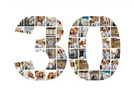 Fotoleinwand mit Collage als Zahl