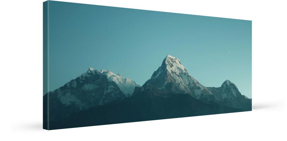 foto auf panorama leinwand