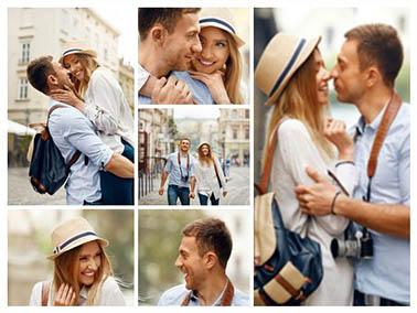 Fotocollage auf Leinwand mit 6 Fotos