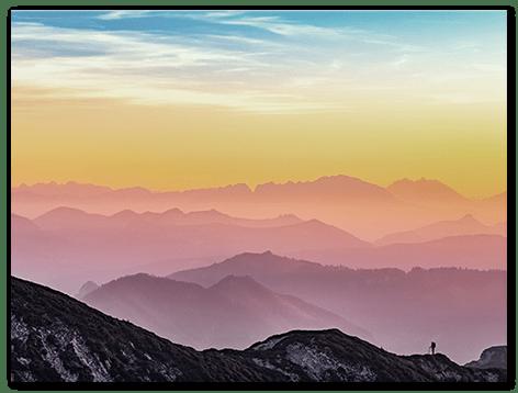 landing wandbild landschaft top