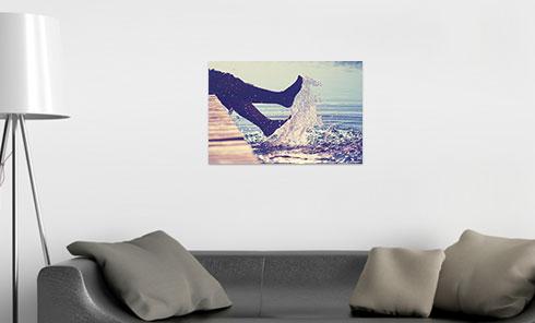 Fotoleinwand 60x40 cm über Sofa