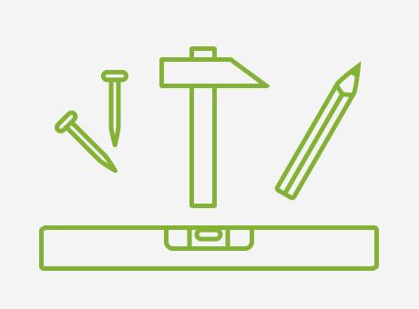Werkzeug zum Aufhängen einer Leinwand
