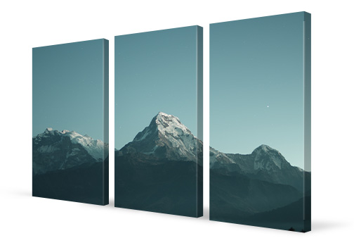 mehrteiler leinwand 3 teiler perspektive berge
