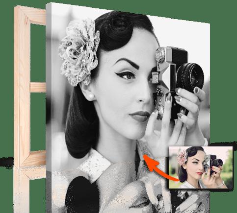 Schwarz-Weiß Foto auf Leinwand vom Farbfoto
