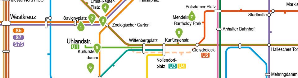 Detailansicht der Fotogalerien im Westen Berlins