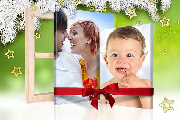 weihnachten geschenk foto leinwand